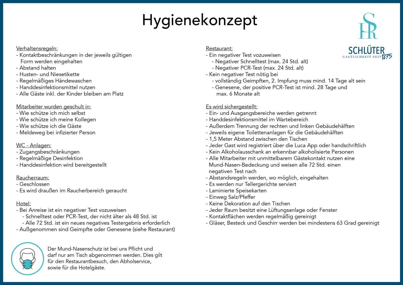 Hygienekonzept Verhaltensregeln