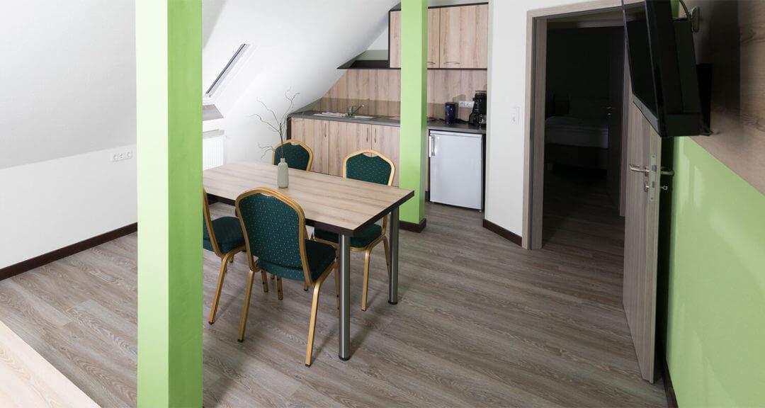 Suite Wohnzimmer Küche